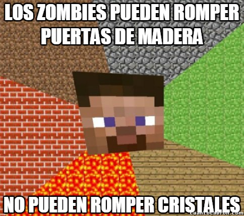 Minecraft - Los zombies de Minecraft y su fuerza indescriptible