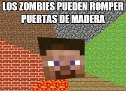 Enlace a Los zombies de Minecraft y su fuerza indescriptible