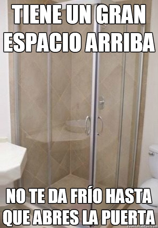 Meme_otros - Las duchas y su sistema de conservación del calor que no entiendo