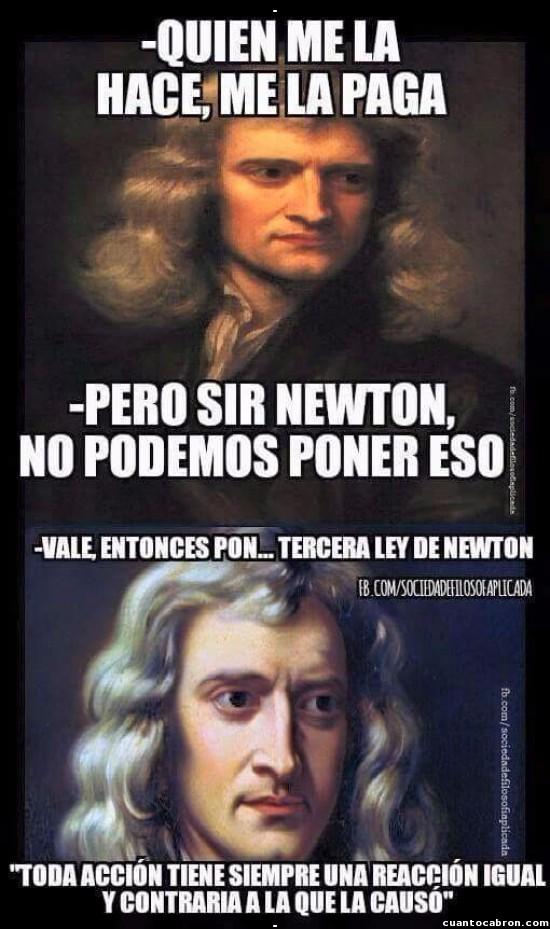 Meme_otros - Newton, el vengativo