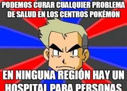 Enlace a Mucho Centro Pokémon, ¿pero y las personas qué?