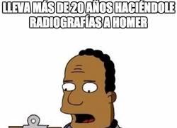 Enlace a Lleva más de 20 años haciéndole radiografías a Homer
