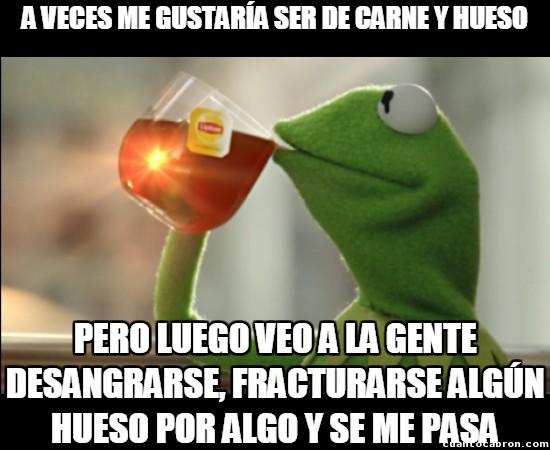 Meme_otros - Tiene sus ventajas ser de peluche, si no preguntárselo a la rana Gustavo...