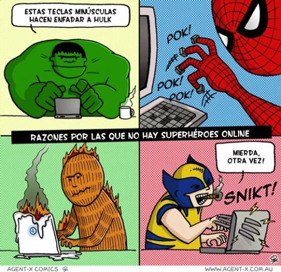 Otros - Razones por las que no hay superhéroes en Internet
