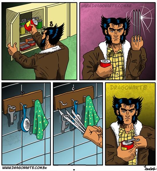Otros - Lobezno no tiene muchos problemas para abrir las latas