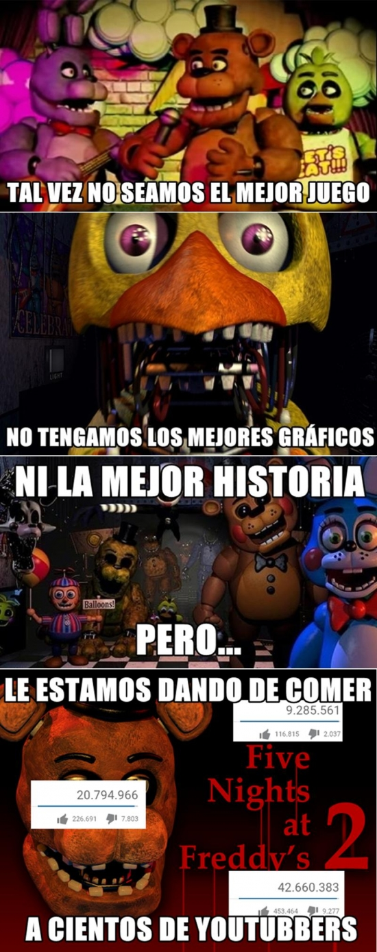 Meme_otros - El lado solidario y caritativo de Five Nights at Freddy's