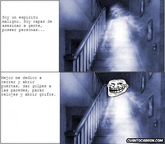 Trollface - Los fantasmas son muy trolls