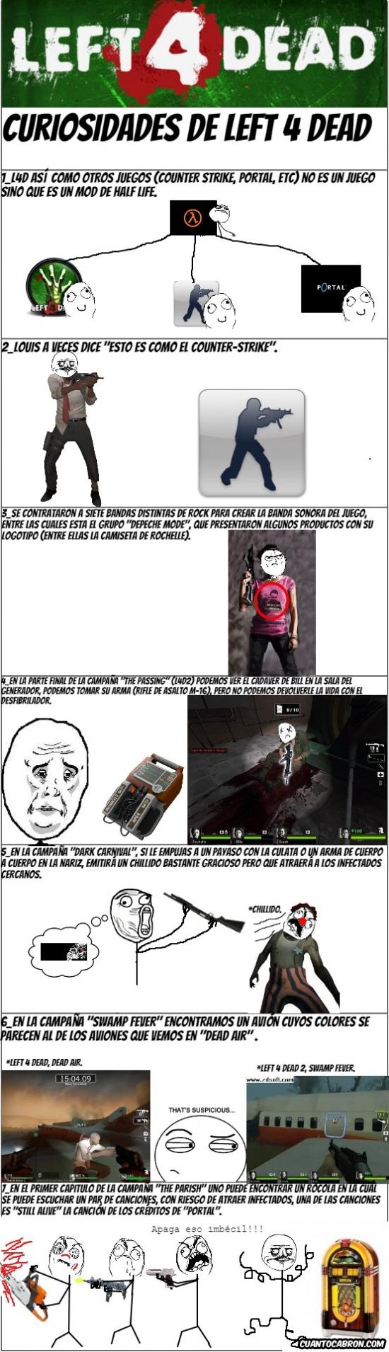 Friki - Siete curiosidades de Left 4 Dead que quizás no sabías.