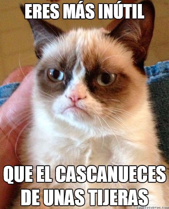Grumpy_cat - Tijeras con cascanueces, ¿alguien los ha usado alguna vez?