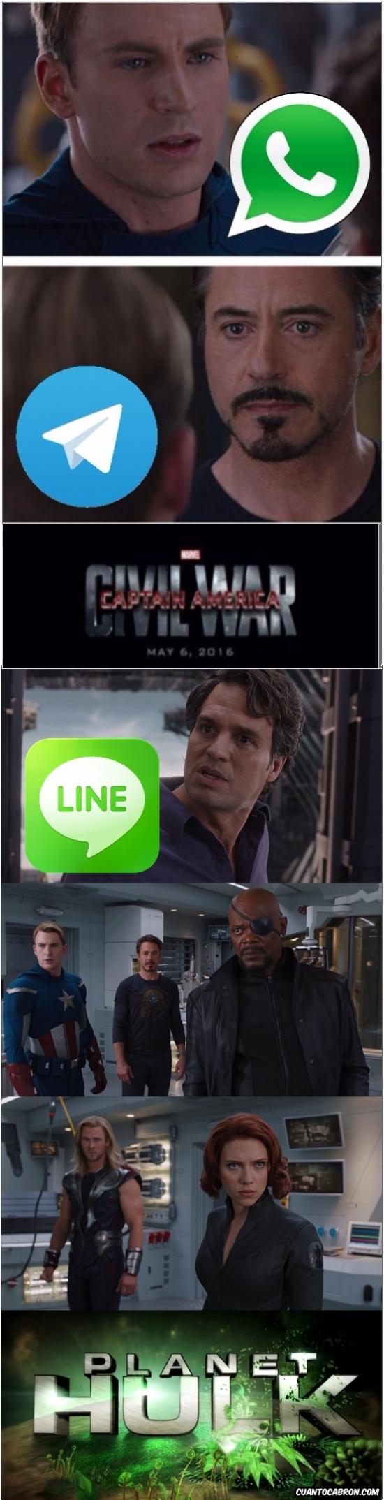 Otros - La guerra de mensajería continúa