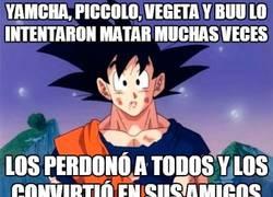 Enlace a Goku tan inocente como siempre
