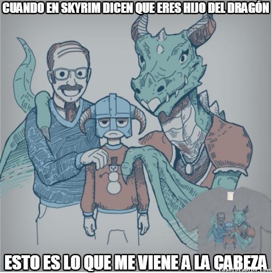 Meme_otros - Dovahkiin, el último hijo del dragón