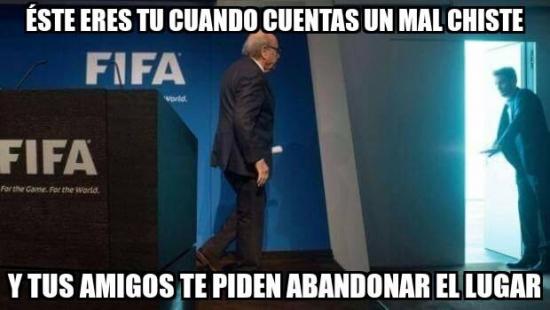 abandonar,Blatter,gtfo,mal chiste