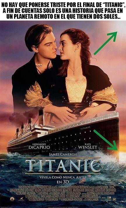Meme_otros - Y por eso no hay que entristecerse por el desenlace de Titanic