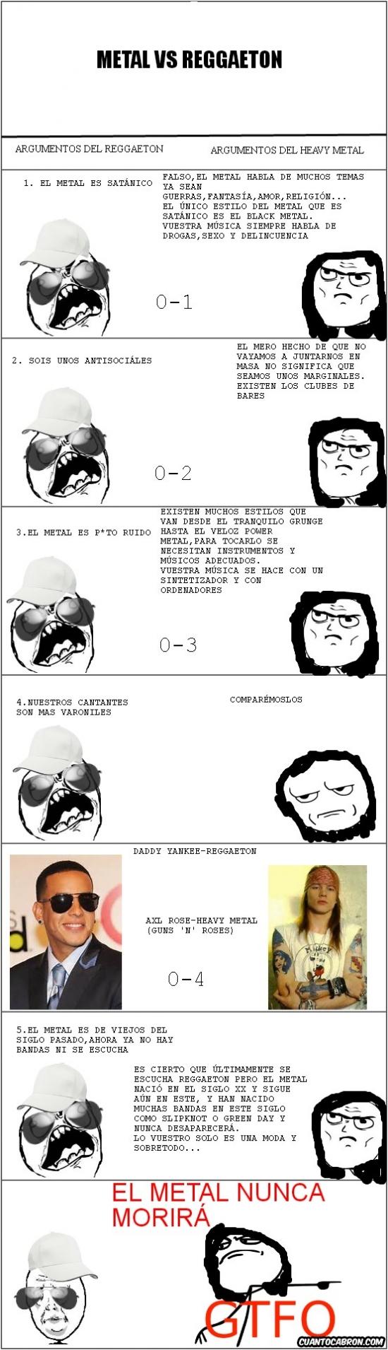 Fuck_yea - Metal vs. Reggaeton, una batalla realmente fácil