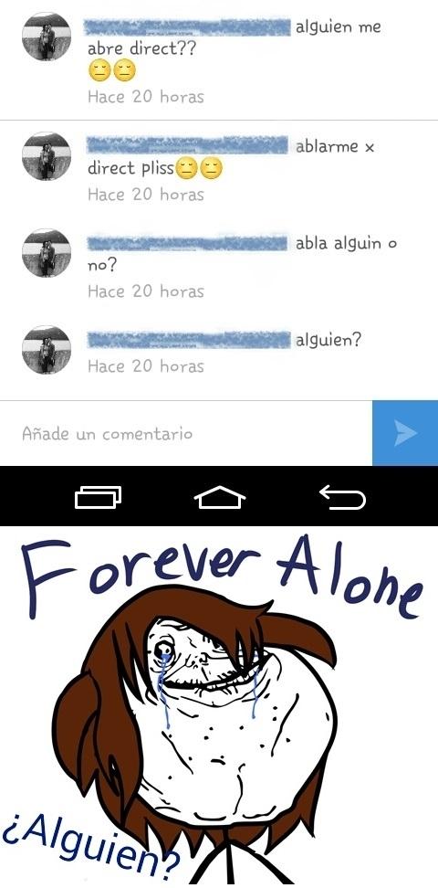 Forever_alone - Hay gente muy sola en esta vida
