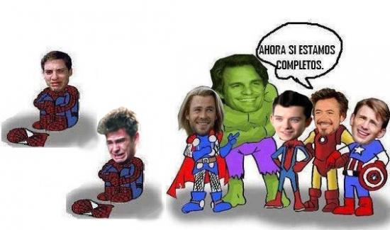 Meme_otros - ¡Pobres Spider-mans!