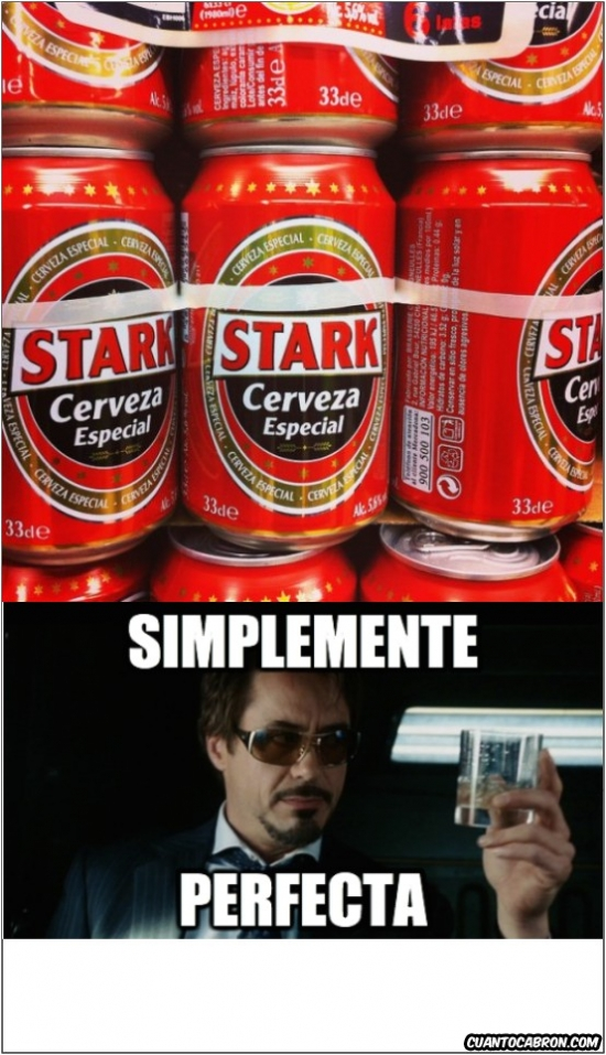 Otros - La bebida favorita de Iron Man