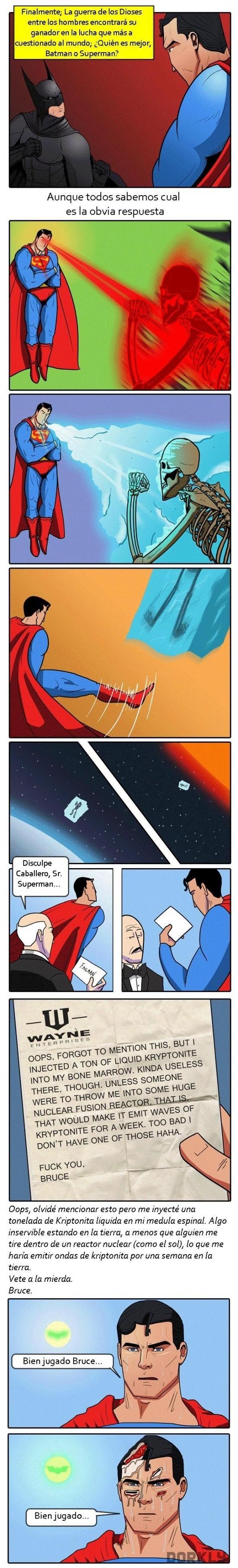 Otros - Superman es superior a Batman en todos los aspectos, excepto en el ingenio
