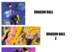 Enlace a La evolución de Goku, claramente a peor