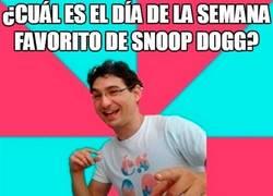 Enlace a Snoop Dog siente preferencia por cierto día de la semana