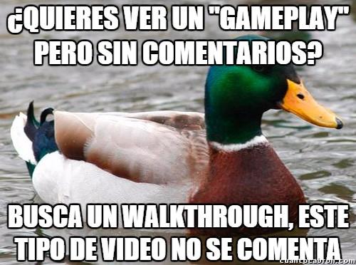 Pato_consejero - La clave para evitar a los comentaristas de los gameplays