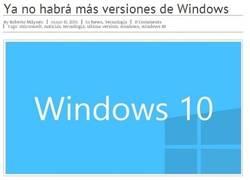 Enlace a Y hasta aquí las nuevas versiones de Windows