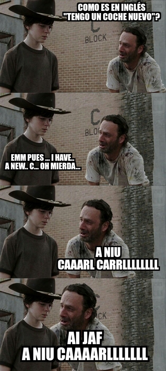 Carl,new caaaaarl,nuevo coche,Rick,The walking dead