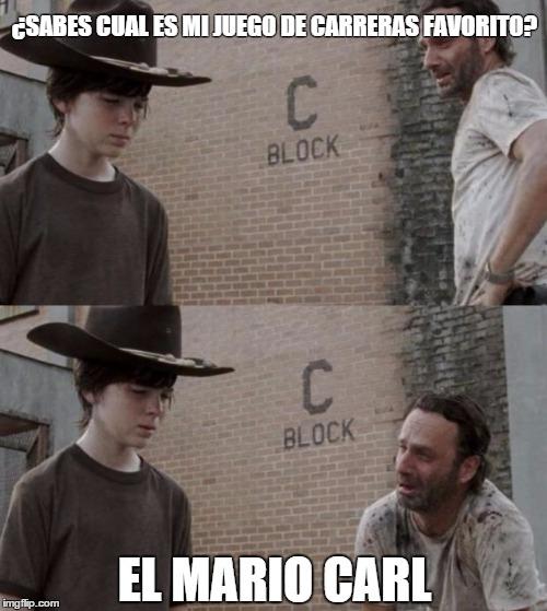 Meme_otros - El juego de carreras favorito de Rick