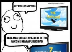 Enlace a Antena 3 y su maldita publicidad a la hora de estrenar Los Simpson