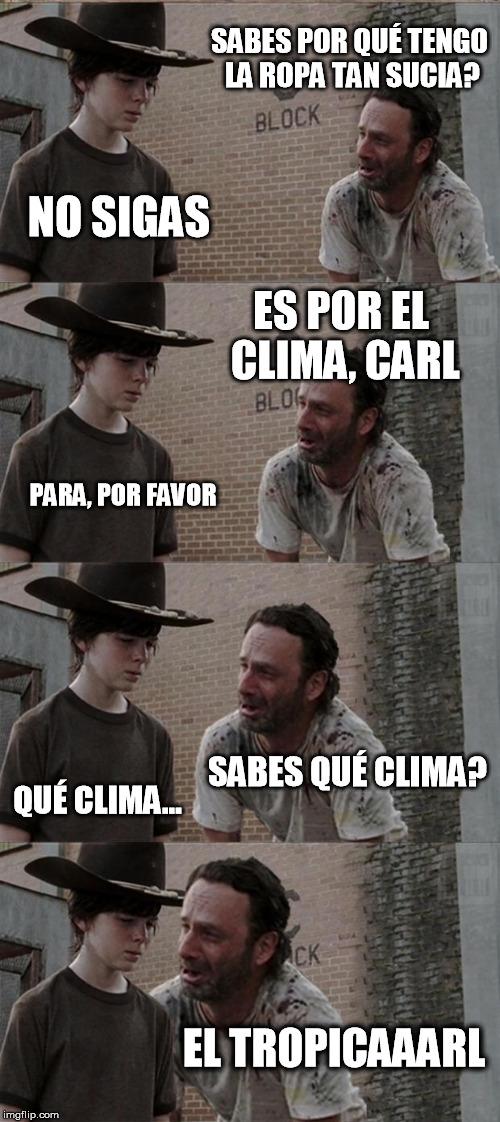 Meme_otros - Rick vuelve a ensuciarse la ropa...