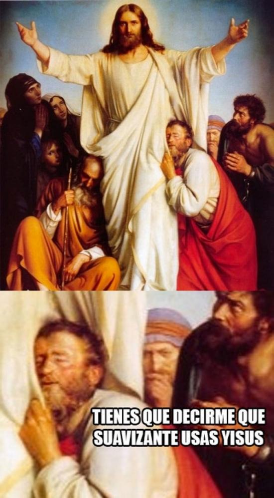Meme_otros - El secreto de las predicaciones de Jesús era que su ropa tenía olor a lavanda y estaba suavecita