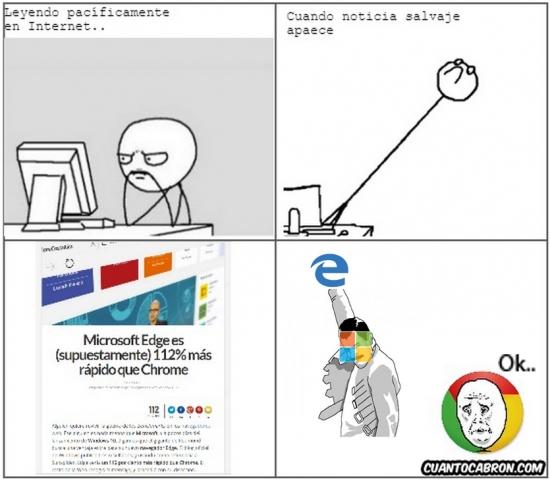 Okay - ¿El nuevo explorador de Microsfot podrá contra Chrome?