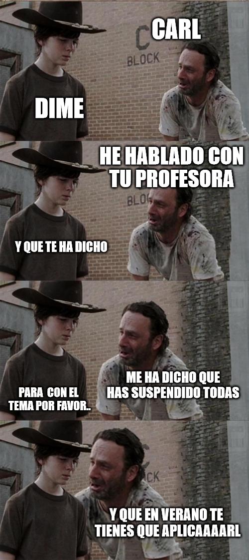 Meme_otros - A Carl le toca estudiar en verano