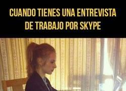 Enlace a La seriedad cuando tienes una entrevista de trabajo por Skype