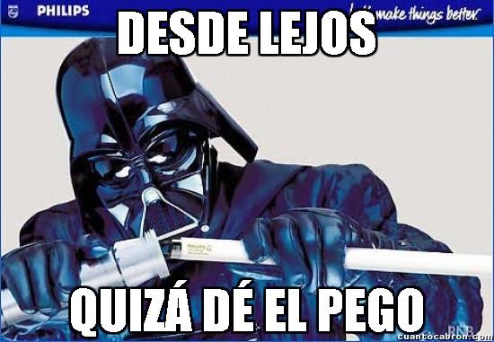 Meme_otros - El día que se le rompió el sable láser a Darth Vader