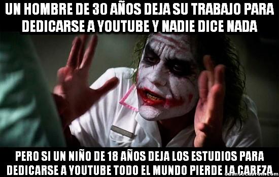 Joker - El oficio de Youtuber hoy en día es para gente madura