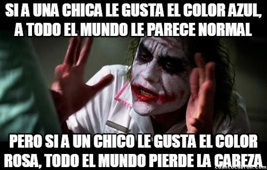 Joker - Colores prohibidos según el género