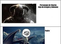 Enlace a Personaje de Skyrim: dragón y humano