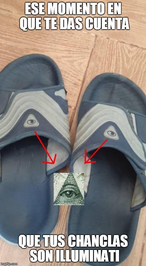 Meme_otros - Chanclas illuminati confirmed