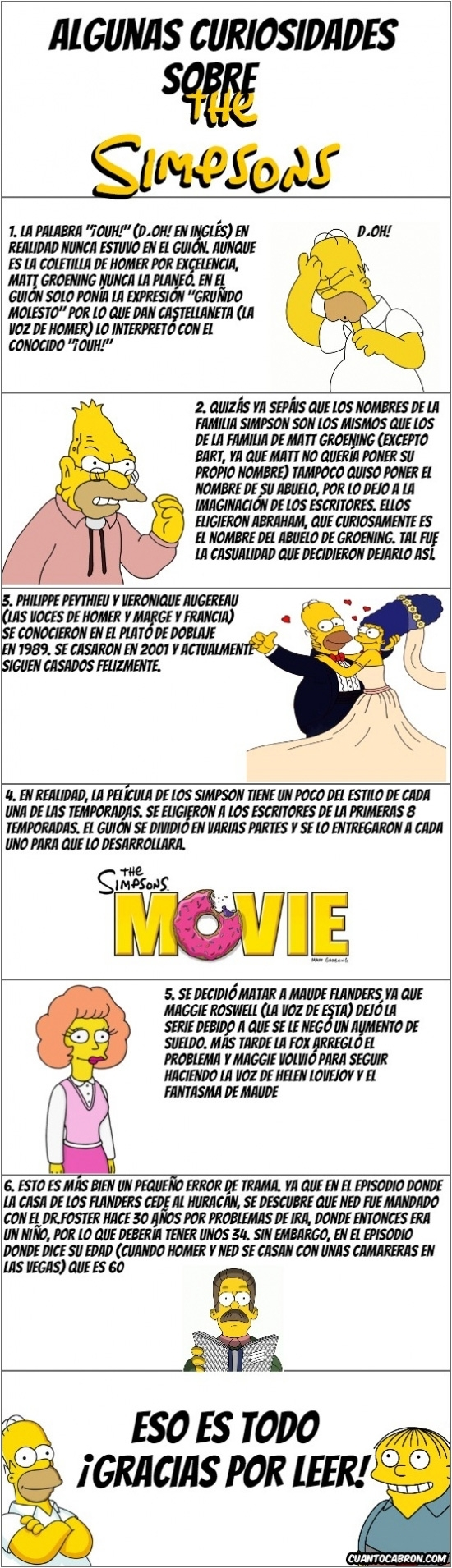 Otros - Algunas curiosidades que quizás no sabías sobre Los Simpson