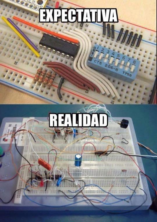 Meme_otros - La triste realidad de las clases de electrónica