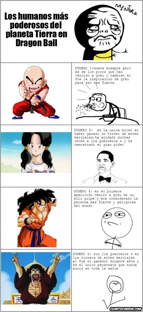 Otros - Los seres humanos más fuertes del planeta, en Dragon Ball