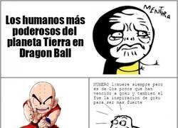 Enlace a Los seres humanos más fuertes del planeta, en Dragon Ball