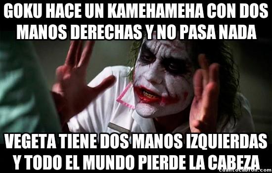 Joker - El kamehameha de Goku y la escena de Vegeta
