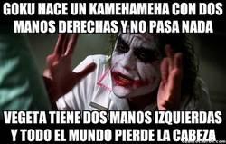 Enlace a El kamehameha de Goku y la escena de Vegeta