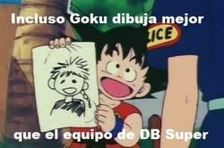 Enlace a Mejor que contraten a Goku de dibujante