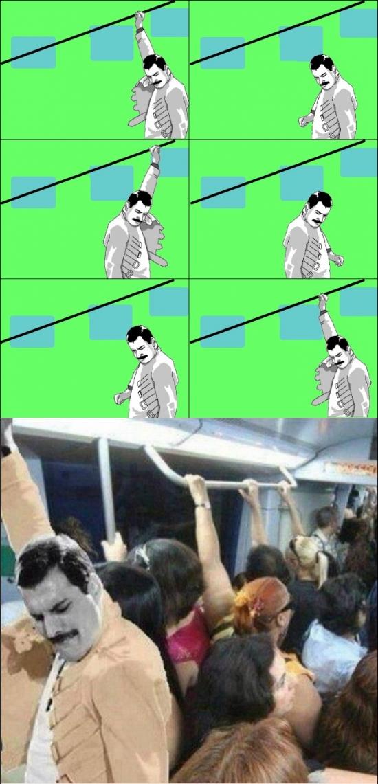 Freddie_mercury - No volverás a verlo de la misma manera cuando vuelvas a subir al metro