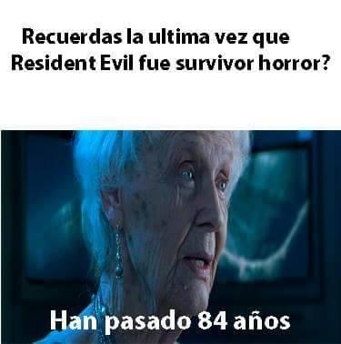 Meme_otros - Resident Evil ya no es lo que era