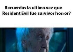 Enlace a Resident Evil ya no es lo que era